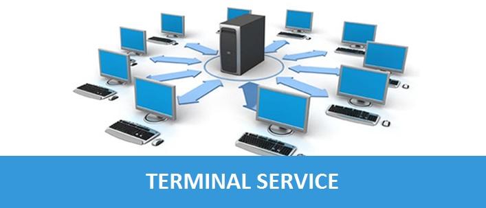سرویس ترمینال در خدمات کامپیوتر